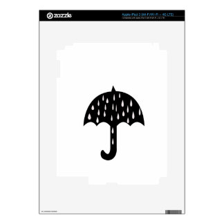 umbrella rain iPad 3 skins