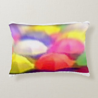 """Umbrella Rainbow"", Photo / Digital Painting Accent Pillow"