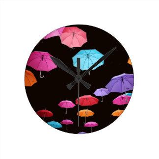 Umbrella rainy day sunshade parasol pattern round clock