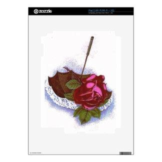 Umbrella Red Rose Decals For The iPad 2
