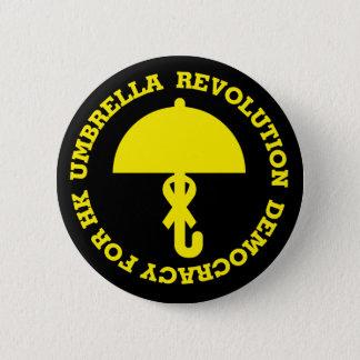 UMBRELLA REVOLUTION and DEMOCRACY FOR HK. Pinback Button