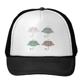 Umbrella Shape Tree Trucker Hat