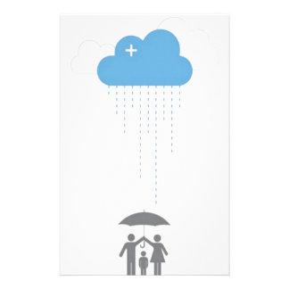 Umbrella shelter design personalized stationery