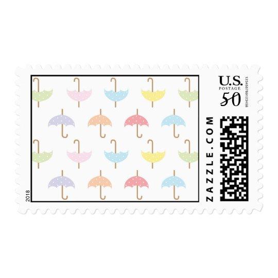 Umbrella Shower Postage Stamp