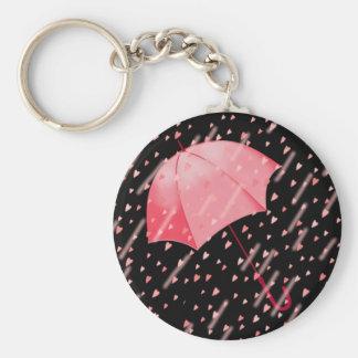 UMBRELLA SHOWERS OF LOVE by SHARON SHARPE Basic Round Button Keychain