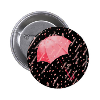 UMBRELLA SHOWERS OF LOVE by SHARON SHARPE Button