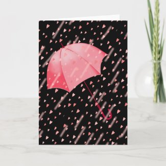 UMBRELLA SHOWERS OF LOVE by SHARON SHARPE Greeting Card