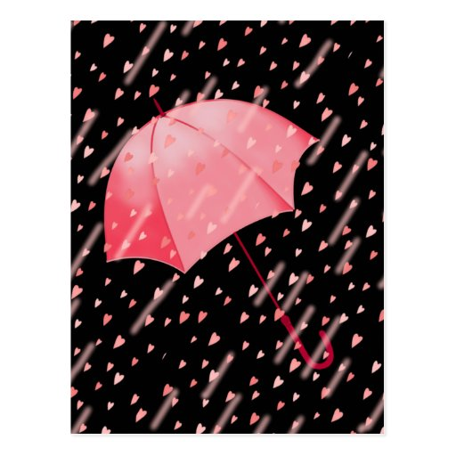 UMBRELLA SHOWERS OF LOVE by SHARON SHARPE Postcard