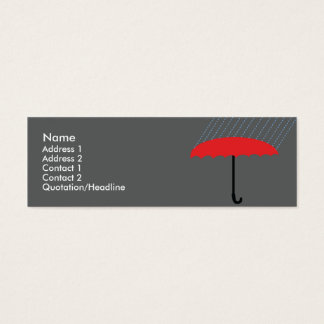 Umbrella - Skinny Mini Business Card