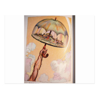 umbrella Speedy Postcard