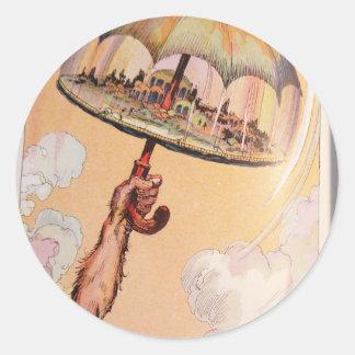 umbrella Speedy Round Sticker