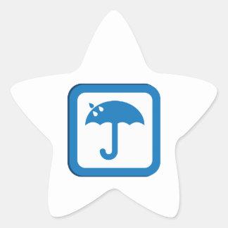 Umbrella Star Stickers