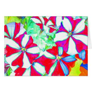 Umbrella Striped Flowers Art Photo Blank Inside Card