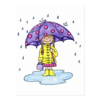 Umbrella Sweetie Postcard