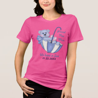 Umbrella Teddy Bear - New Mom of Boy - Customize Shirts