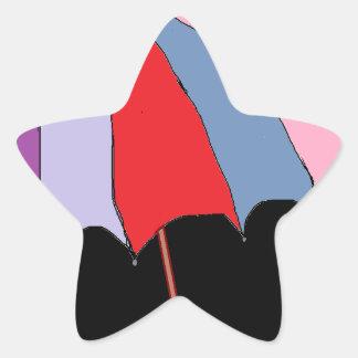 Umbrella Theme Star Stickers