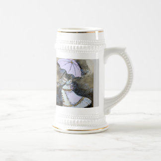 , Umbrella, Woman Beer Stein