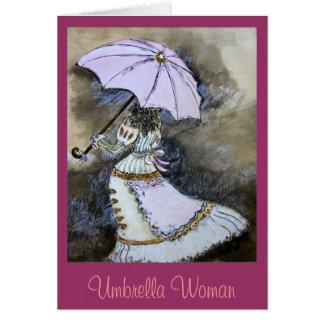 Umbrella woman card