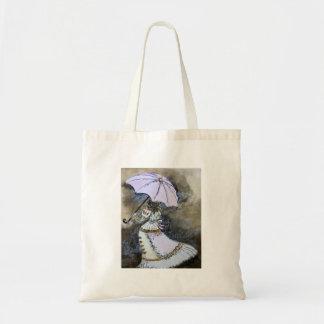 Umbrella woman tote bag
