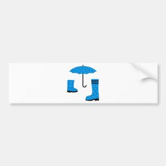 UmbrellaBoots6 Bumper Sticker