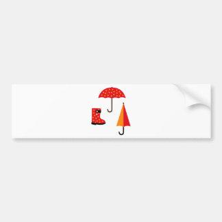 UmbrellaBoots8 Bumper Sticker