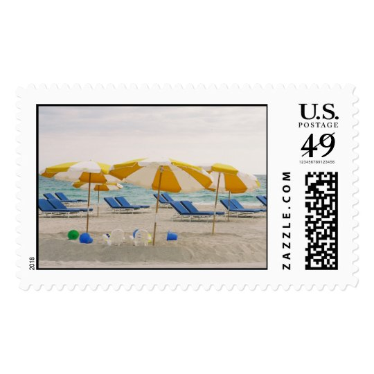 Umbrellas and chairs postage