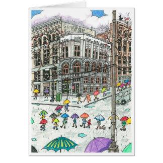 Umbrellas at Pioneer Square Card