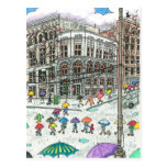 Umbrellas at Pioneer Square Postcard