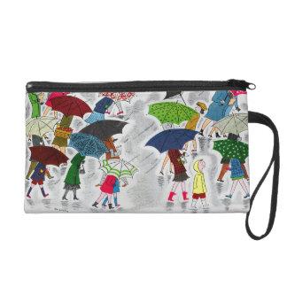 Umbrellas Wristlet Purses