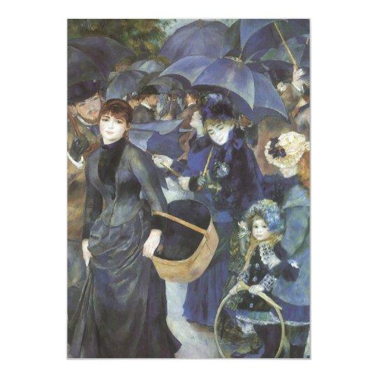 Umbrellas by Pierre Renoir, Vintage Impressionism Card