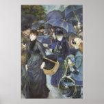Umbrellas by Pierre Renoir, Vintage Impressionism Poster