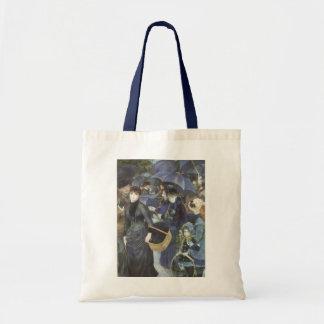 Umbrellas by Pierre Renoir, Vintage Impressionism Tote Bag
