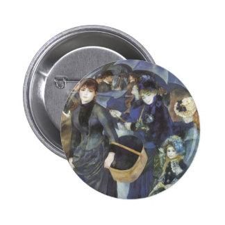 Umbrellas by Renoir, Vintage Impressionism Art Pin
