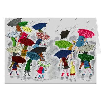 Umbrellas Card