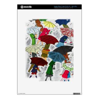 Umbrellas Decal For iPad 3