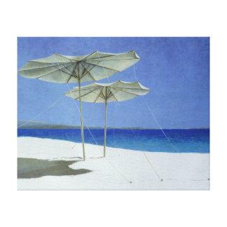 Umbrellas Greece 1995 Canvas Print