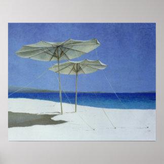 Umbrellas Greece 1995 Poster