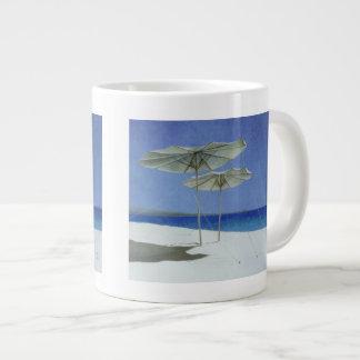 Umbrellas Greece 1995 20 Oz Large Ceramic Coffee Mug