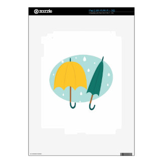 Umbrellas in Oval Decal For iPad 2