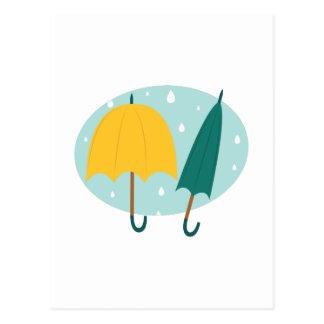 Umbrellas in Oval Postcard