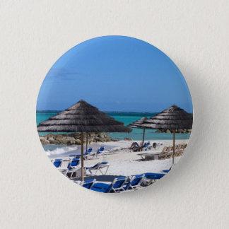 Umbrellas in the Bahamas Button