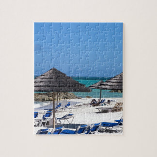 Umbrellas in the Bahamas Jigsaw Puzzle