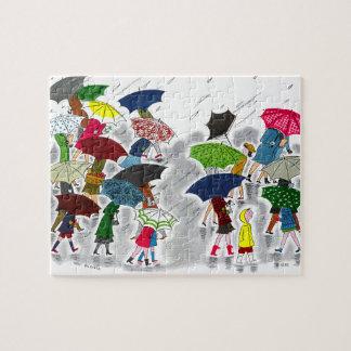 Umbrellas Jigsaw Puzzle