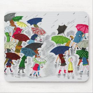 Umbrellas Mouse Pad