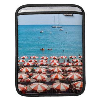 Umbrellas On Amalfitan Coast iPad Sleeve