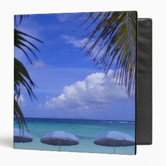 umbrellas on beach, St. Maarten, Caribbean Binders