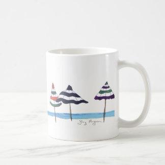 Umbrellas on the Beach Mugs & Drinkware