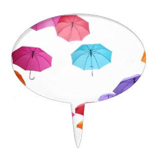 Umbrellas  pattern design cake picks