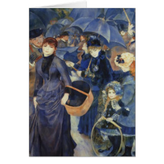 Umbrellas Pierre-Auguste Renoir Mother's Day Card