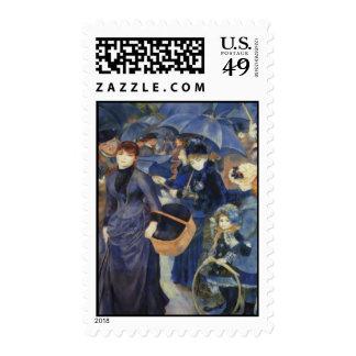 Umbrellas Pierre-Auguste Renoir Mother's Day Card Postage Stamp
